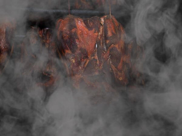 smoked meats in smoking food at home