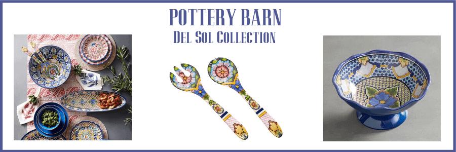 pottery barn melamine summer dinnerware