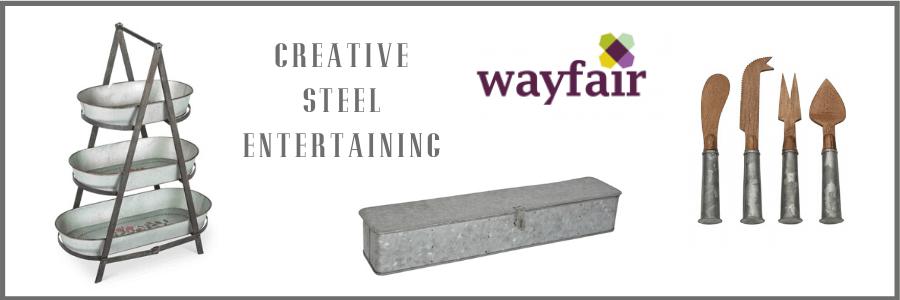 wayfair metal entertaining at home pieces