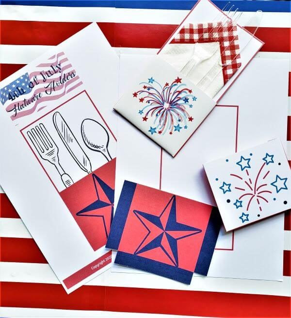 4th of July flatware holder supplies