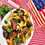 lemon roasted potatoes with patriotic props