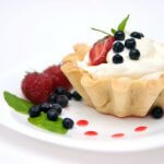 white chocolate chunk mousse tartlets