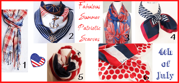 fabulous 4th of july scarves