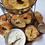 better bagel chips with house-made cream cheese