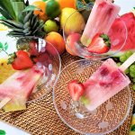 frosty Summer adult treats popsicles in a trio of martini glasses