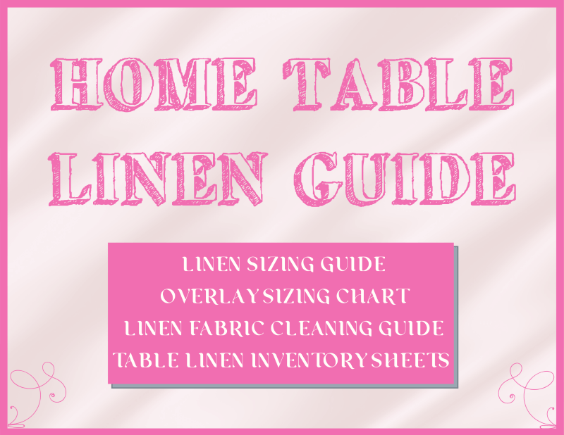 home table linen guide