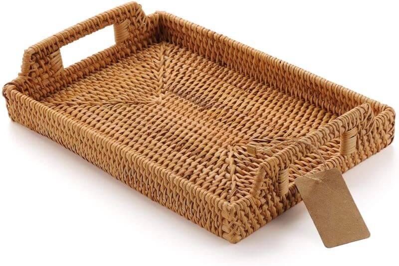 rattan breakfast in bed tray