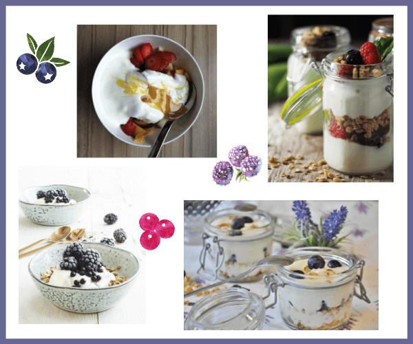 breakfast yogurt and fruit parfaits