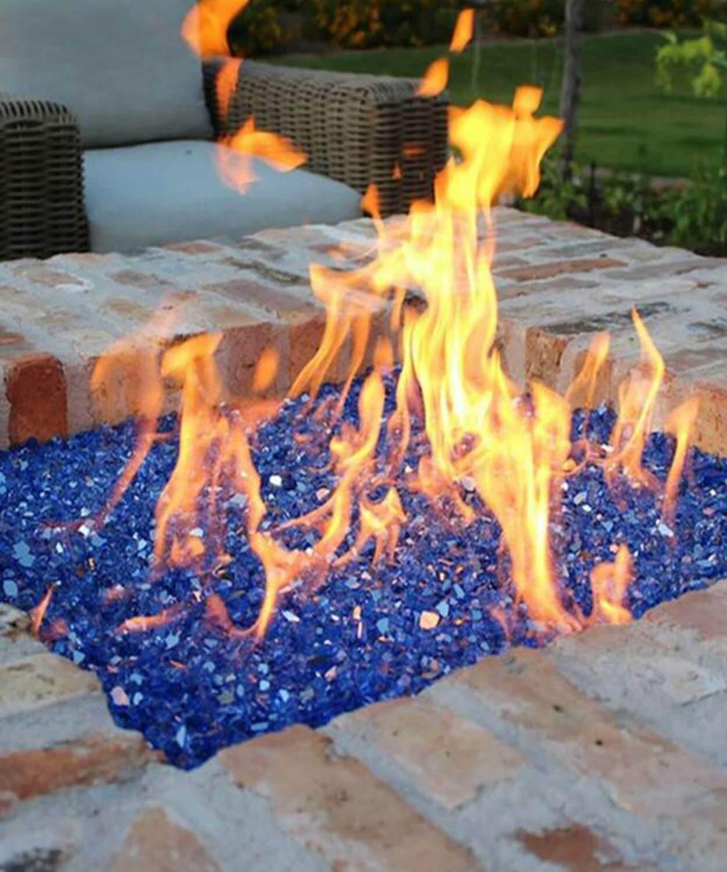 blue lava rock fire pit fuel