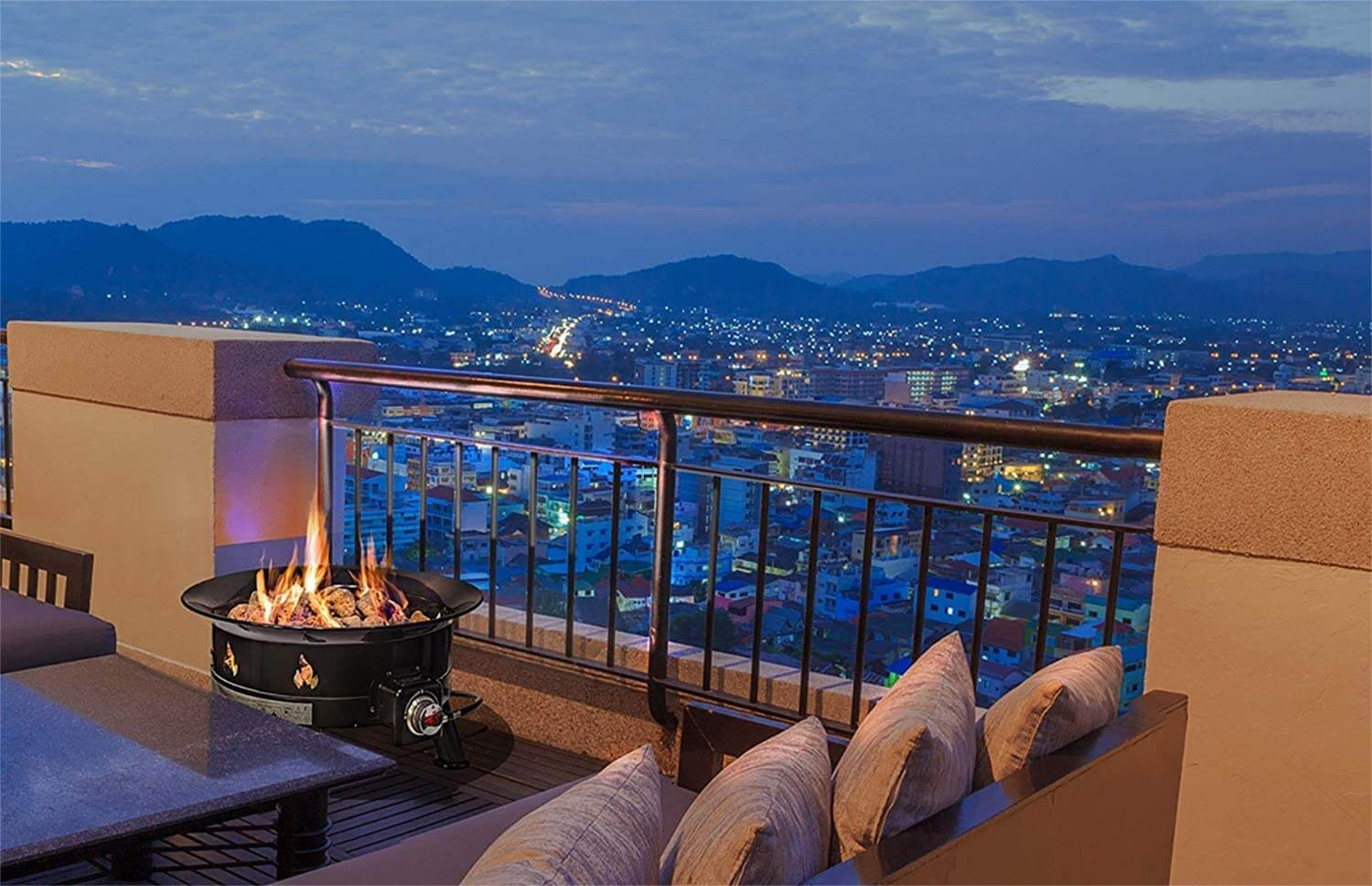 firepit buying guide city view with firepit on balcony