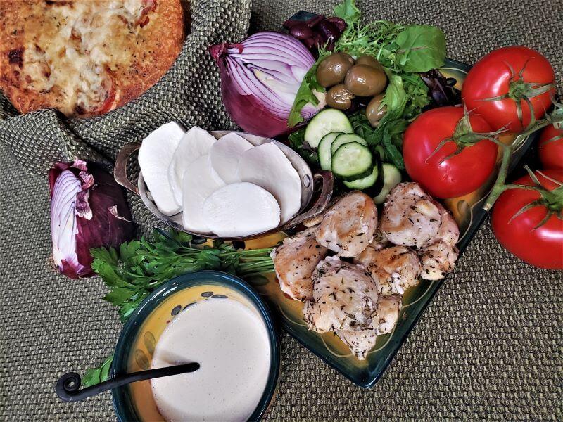 mediterranean chicken focaccia sandwich ingredients