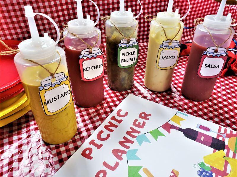 picnic condiment hang tags
