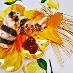 summer shrimp and soba rolls