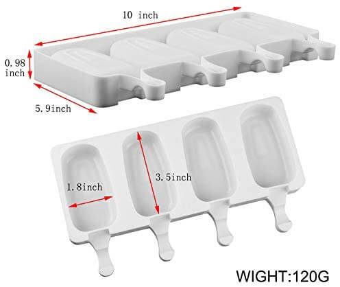 white silicone popsicle mold