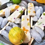 creamy coconut and tropical fruit popsicles