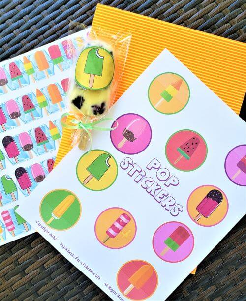 pop sticker printable and decorative wrapper strips