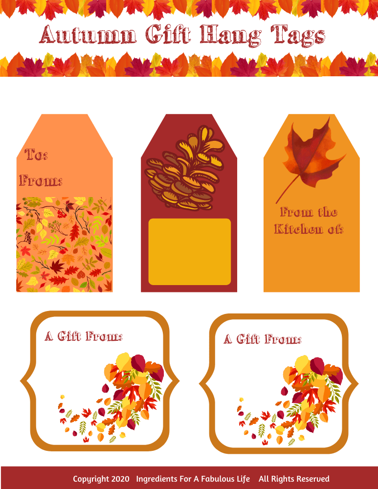 autumn gift hang tags