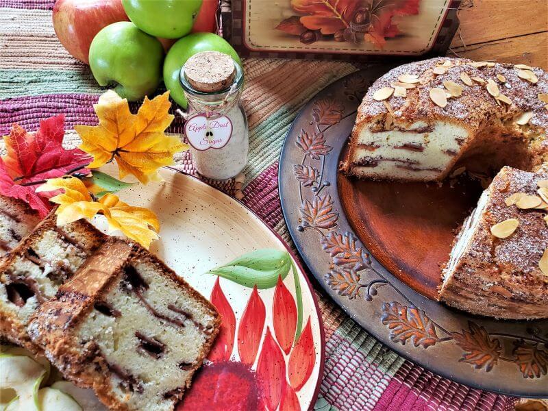 autumn almond apple cake