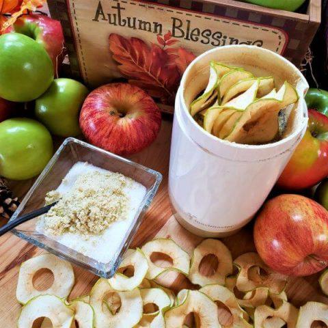 apple dust sugar and coffee grinder