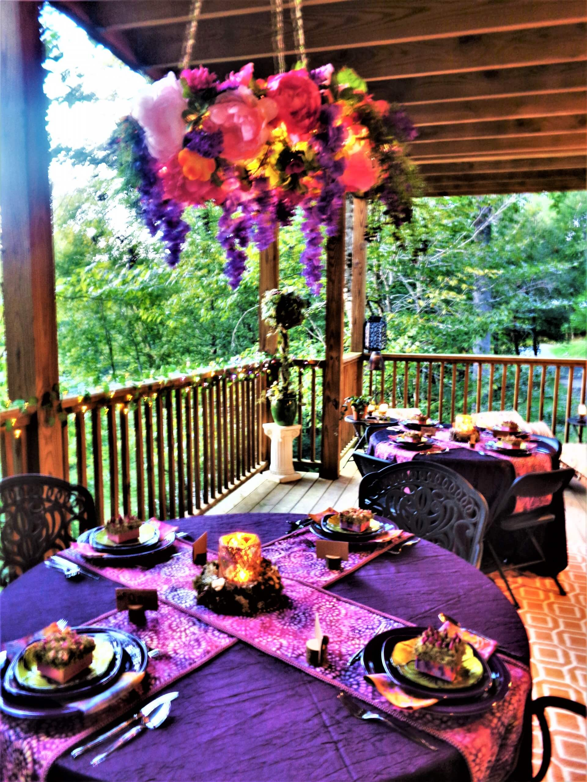 fairies in the forest twilight soiree tables