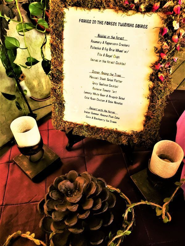 fairies in the forest moss framed menu