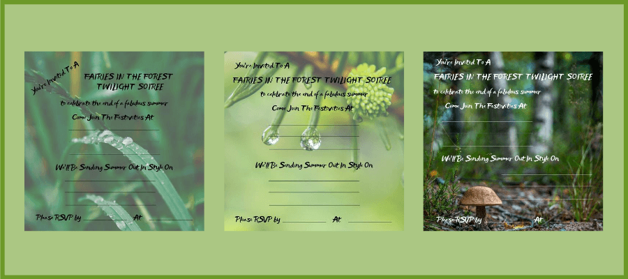 fairies in the forest twilight soiree invitation