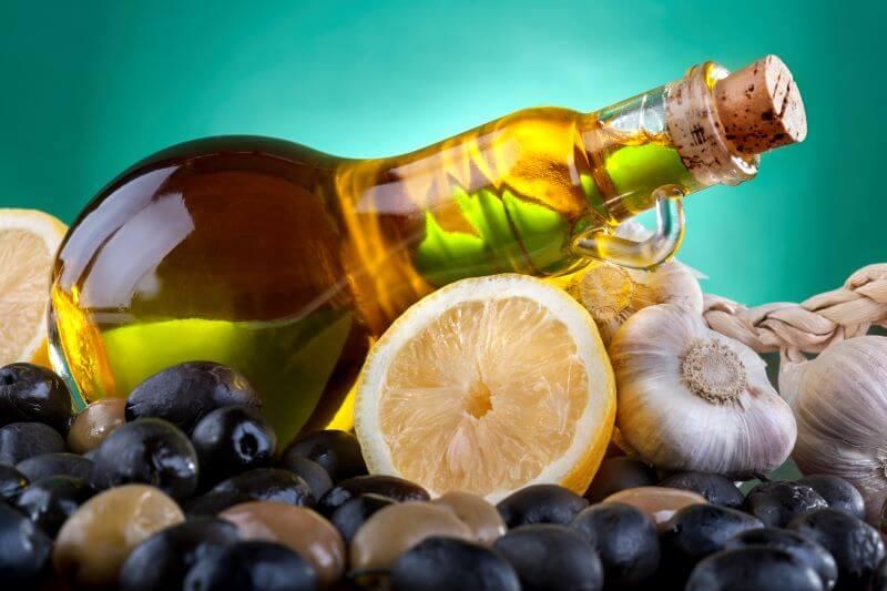 garlic lemon oil for rainbow tomato tart