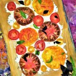 rainbow tomato tart