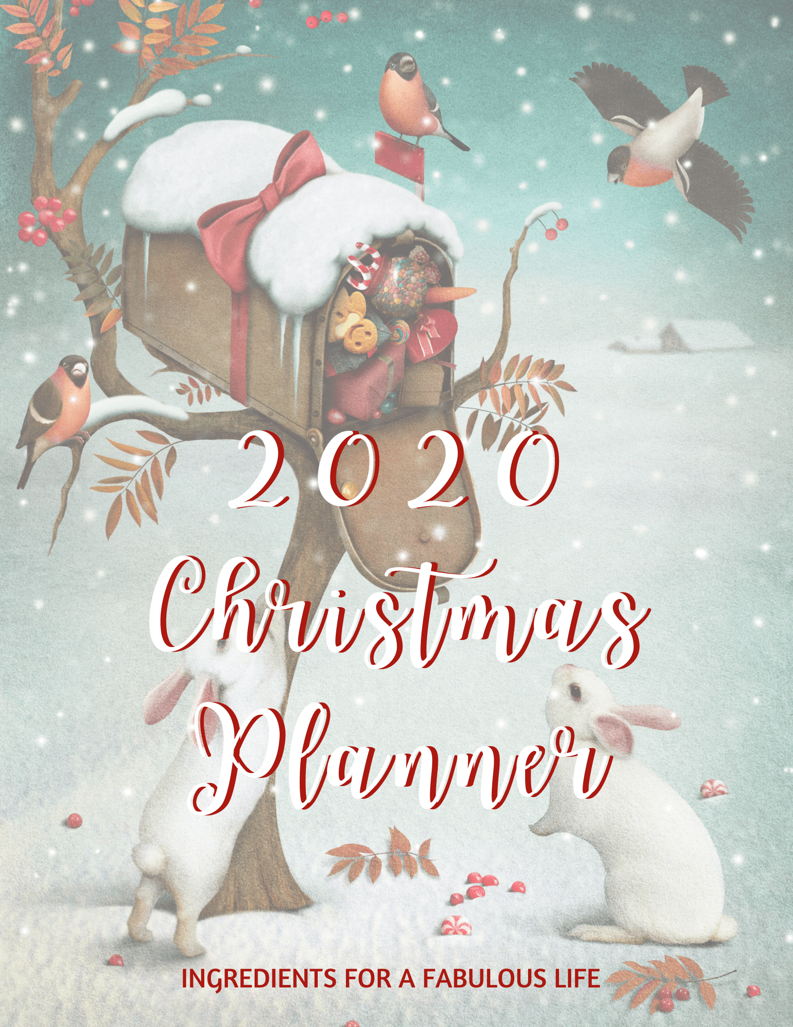 2020 Christmas Planner cover