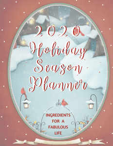 2020 Holiday Season Planner cover