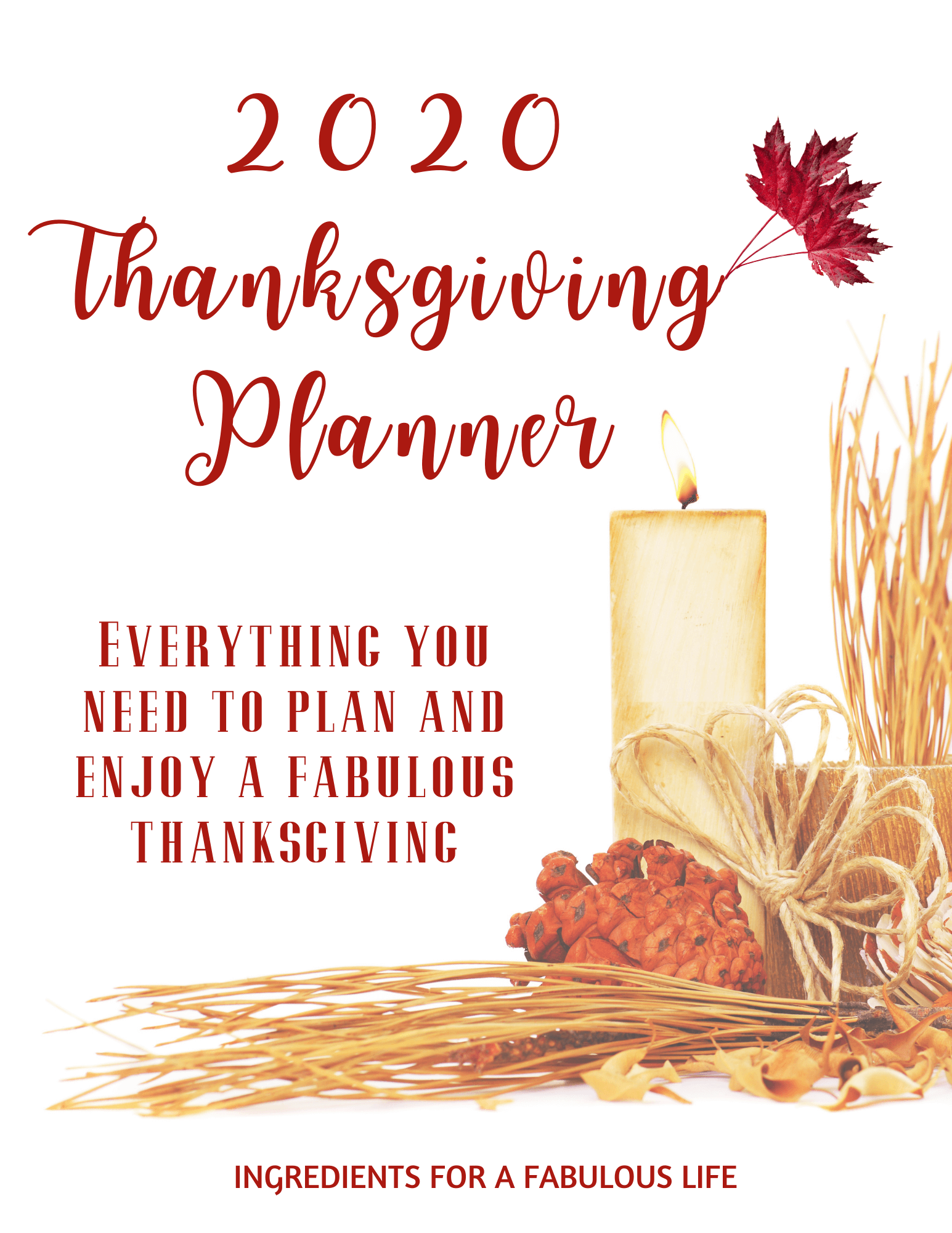 2020 Thanksgiving Planner cover page
