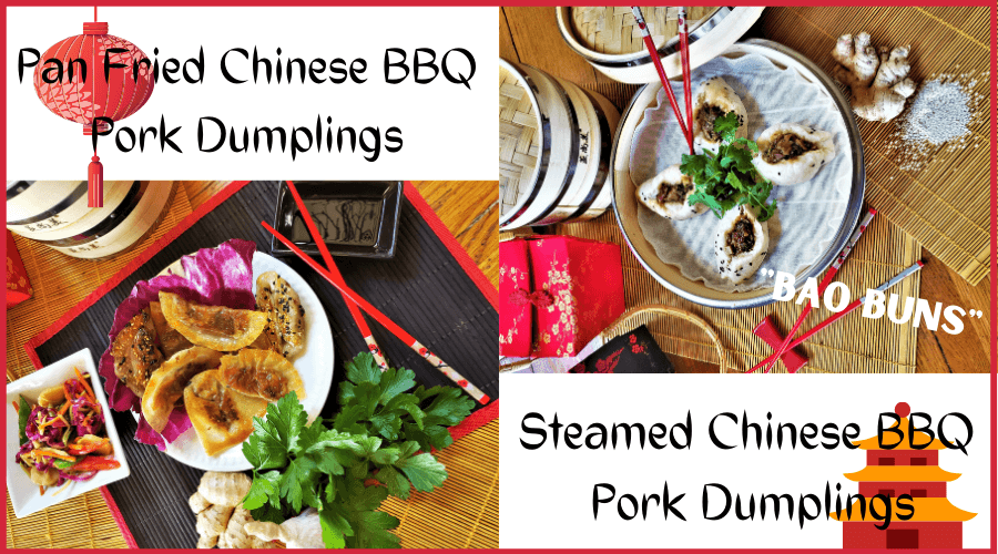 chinese BBQ pork dumplings duo graphic