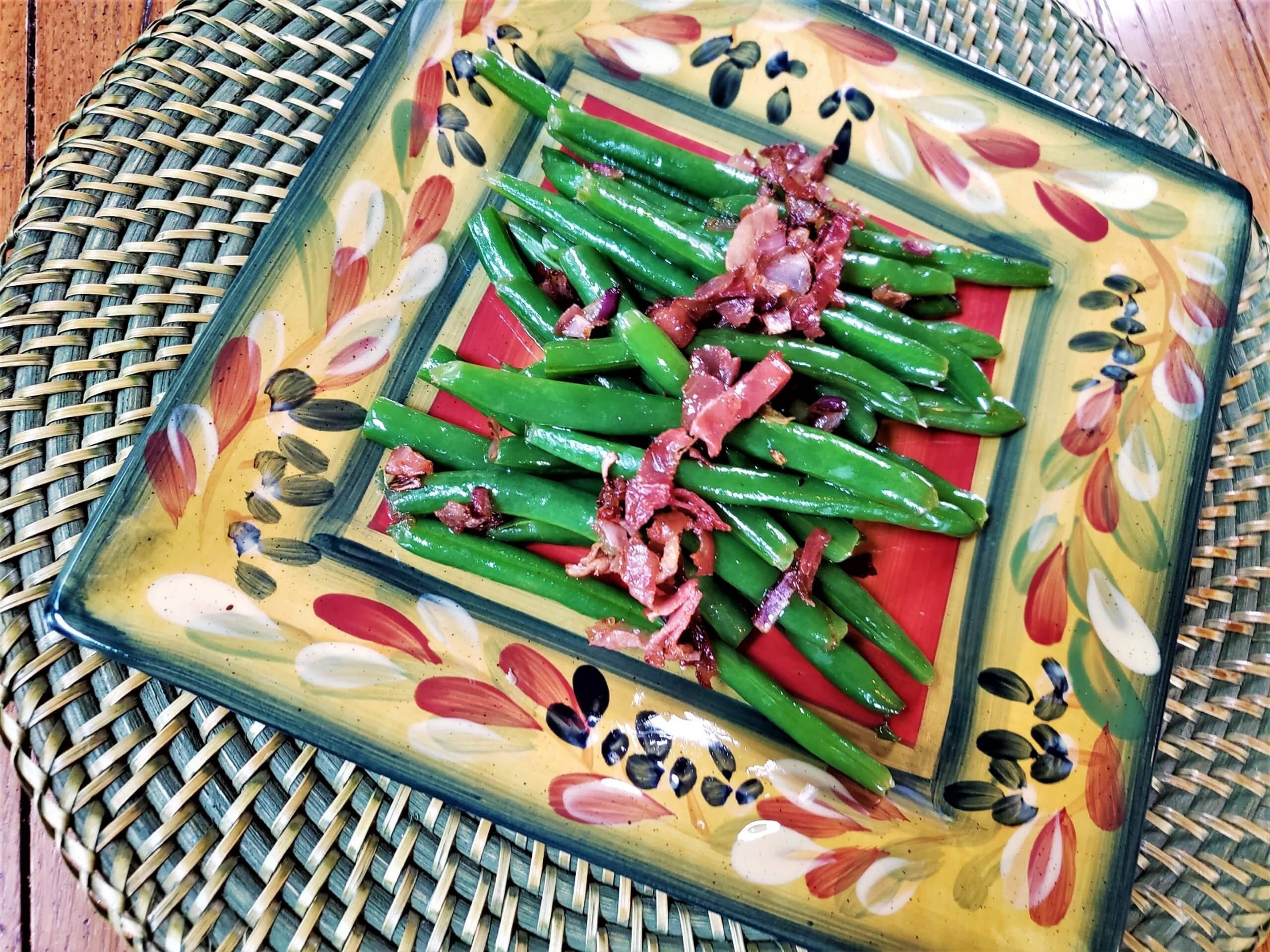 haricot verts with pancetta shallot butter