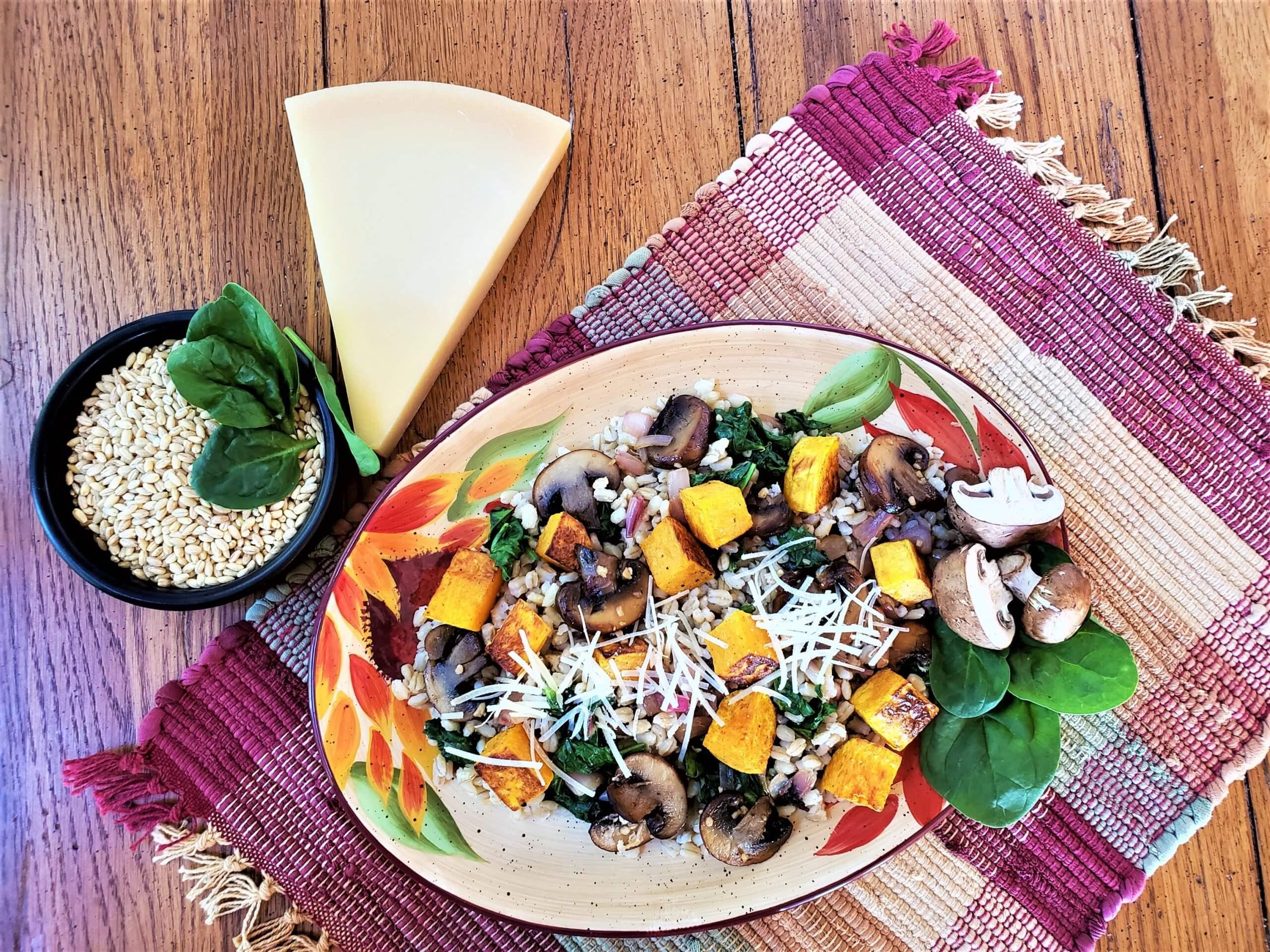 mushroom butternut barley risotto