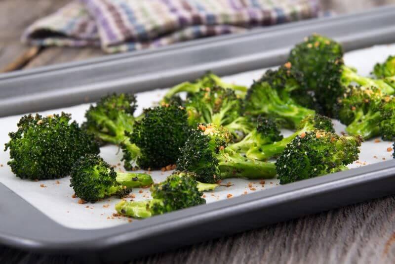 roasted Asian broccoli