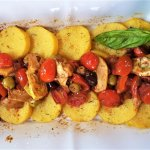 roman gnocchi with mediterranean sauce