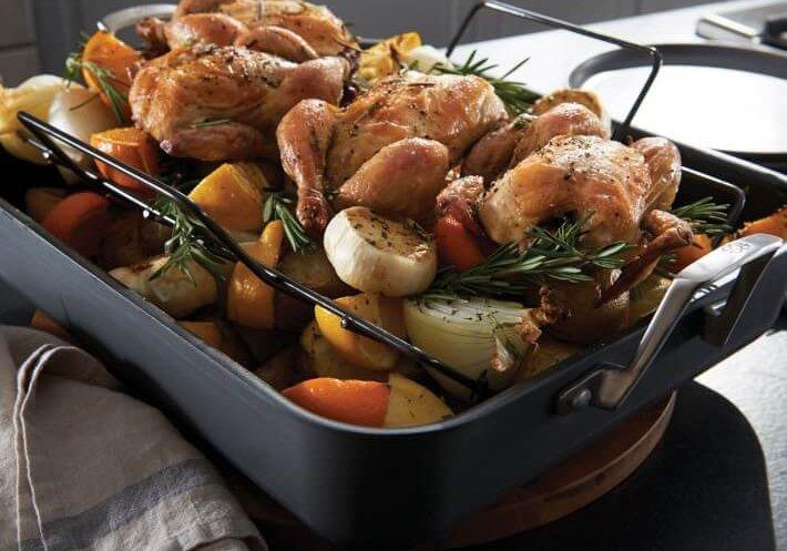 roasting pan for thanksgiving dinner preparation kitchen essentials