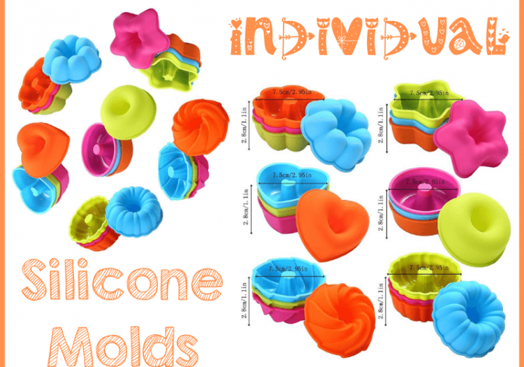 individual silicone molds for holiday recipes