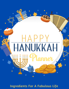 hanukkah holiday planner cover image
