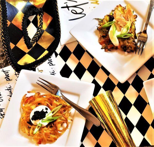 two types of gourmet latkes