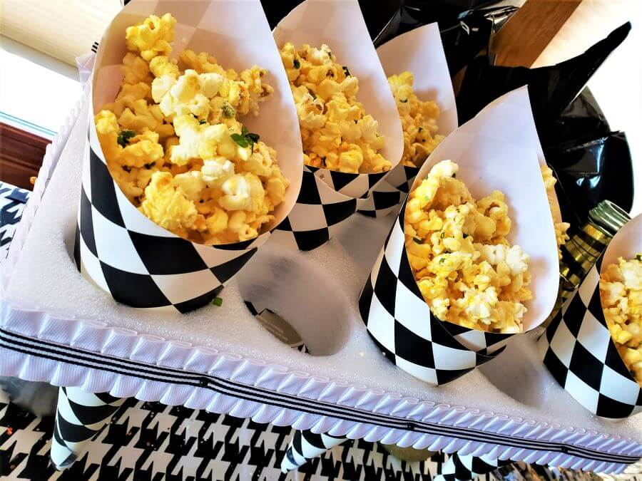 truffled popcorn and champagne