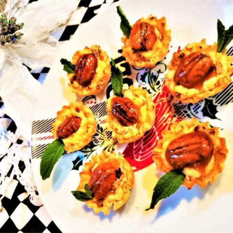 blue cheese apricot tartlets