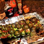 balsamic maple roasted brussel sprouts with bacon