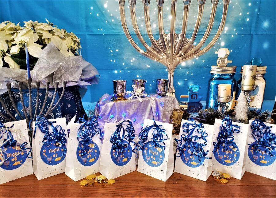 8 nights of hanukkah treat bags