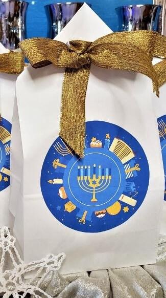 hannukah countdown treat bag