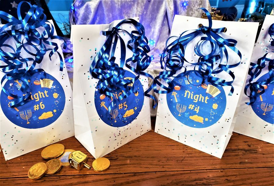 8 nights of hanukkah countdown treat bag