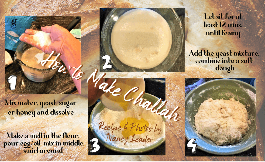 herbed challah instructions graphic