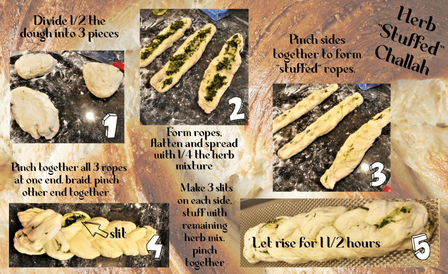 herb stuffed challah instructions