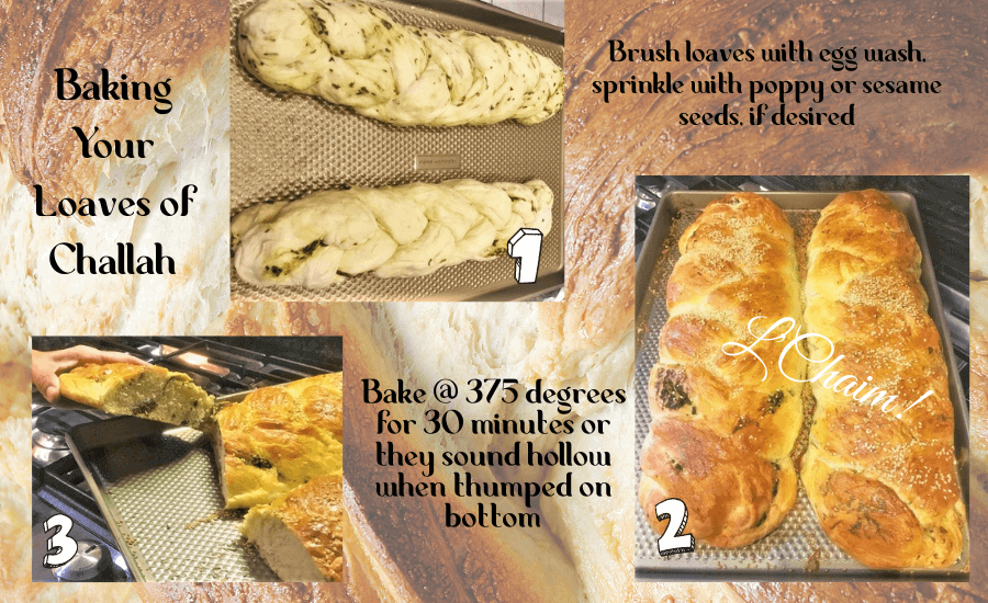 how to bake herbed challah loaves