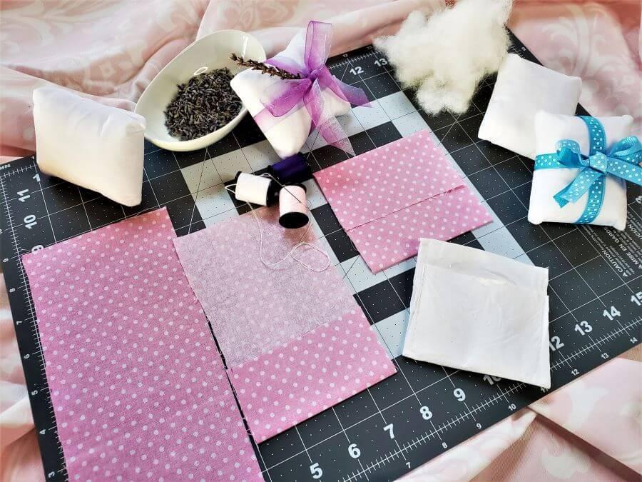 lavender dream pillow instruction image